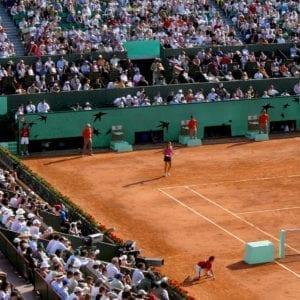 roland garros tennis court